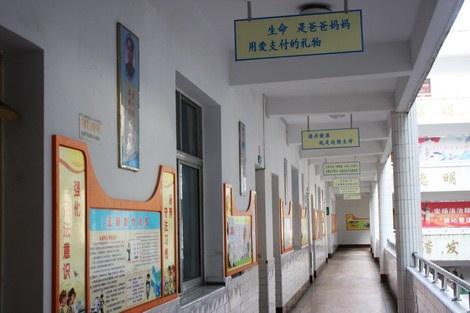 蓥双河小学教学楼道的走廊文化-走进四川广安